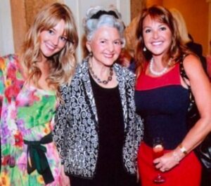 Caption: Hassie Harrison with her mom and grandma