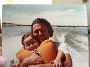 Caption: Linda Cardellini with her dad