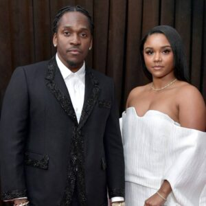 Pusha T with his wife