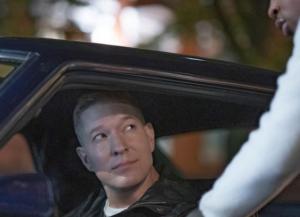 Joseph Sikora inside his car