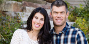 Caption: Professional footballer Mason Crosby with his wife