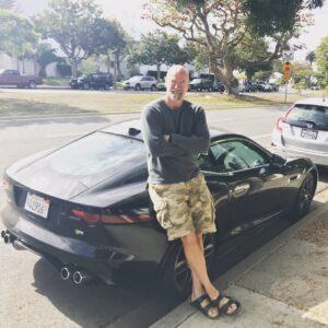 Caption: Graham McTavish with his car
