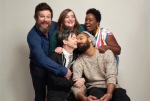 Caption:Actress Lolly Adefope with her friends