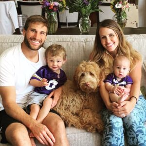 Caption: Julie Hampton  with her family