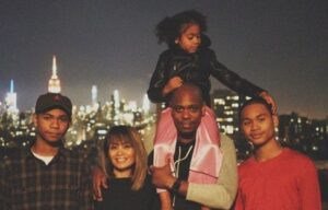 Caption: Ibrahim Chappelle with his family