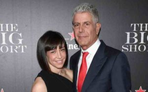 Caption: Businesswoman Nancy Putkoski with his husband