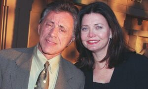 Caption: Randy Clohessy with her husband