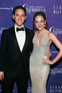 Caption: Laura Osnes with heer husband