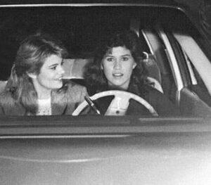 Caption: Nancy McKeon with her car