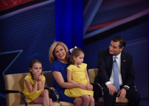 Caption: Rafael Edward Cruz and his wife Heidi Cruz with their children