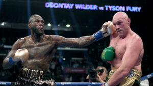 Caption: Tyson Fury vs Deontay Wilder