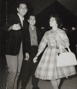 Caption: Neil Sedaka with Howard Greenfield and Connie Francis