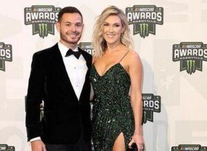 Caption: Katelyn Sweet with her husband Kyle Larson