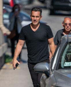 Caption: Lana Gomez's husband Sebastain Maniscalo with his car