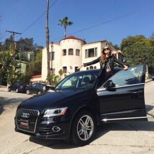 Caption: Chiara Ferragni with her car