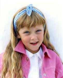 Caption: Chiara Ferragni childhood photo