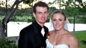 Caption: Sally Pearson with her husband Kieran Pearson