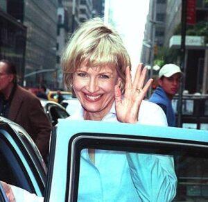 Caption: Diane Sawyer with her car