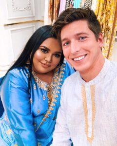 Caption: Nabela Noor with her husband
