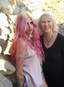 Caption: Cleo Cole with her mom