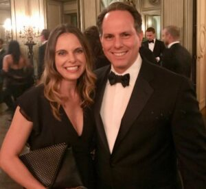 Caption: Lawyer Jeremy Bash with his wife