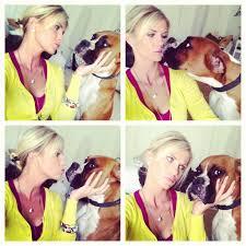CarlieStylez with her dog